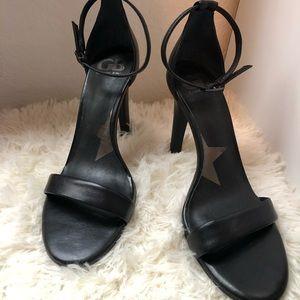 Gianni Bini Black Ankle Strapped Heels